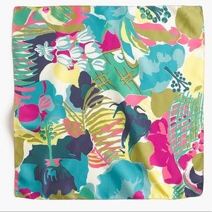 NWT J. CREW ITALIAN SILK SCARF IN SEASIDE FLORAL